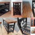 Vintage Shoe Rack Bench 120cm Lengt Entryway Organizer Shoe Storage Cabinet Unit