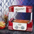 Electric Hot Dog Cooker Roller Grill w/ Bun Storage Sausage Rolling Link Machine