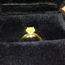 New 18k Gold 1.10Ct. Canary Yellow Diamond Ring Size 7