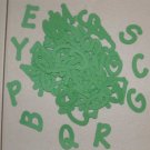 Scrapooking Sizzix Lollipop Alphabet - Primary Green