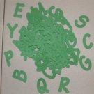 Scrapooking Sizzix Lollipop Alphabet - Primary Green