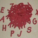 Scrapbooking Sizzix Lollipop Alphabet - Burgundy