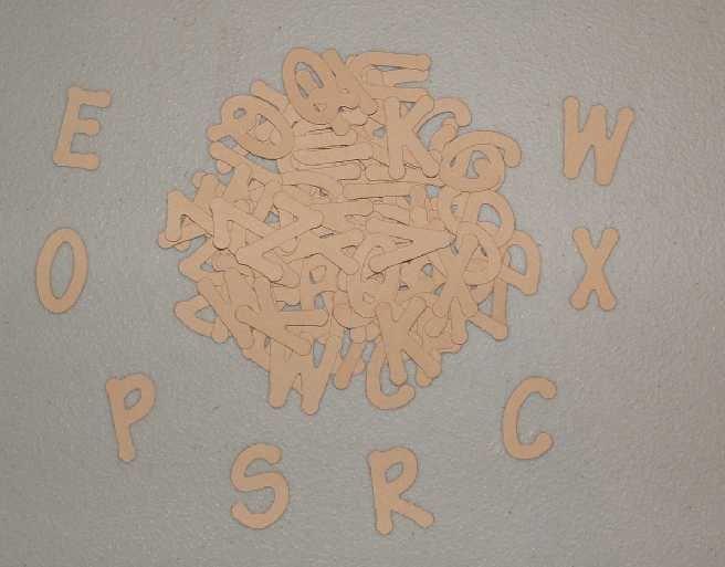 Scrapbooking Sizzix Lollipop Alphabet - Tan