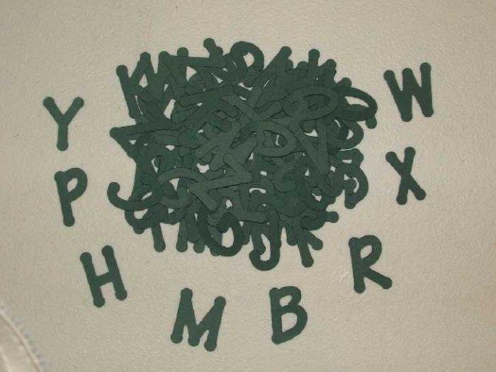 Scrapbooking Sizzix Lollipop Alphabet - Hunter Green