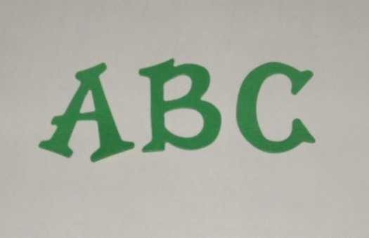 Scrapbooking Sizzix Fun Serif Alphabet - Primary Green