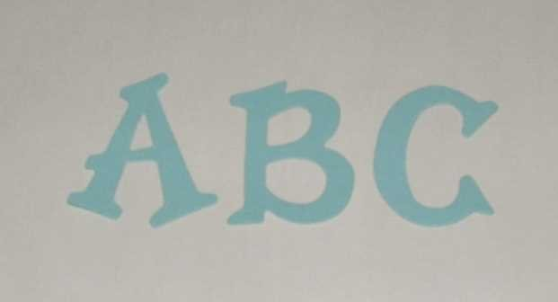 Scrapbookin Sizzix Fun Serif Alphabet - Pastel Blue