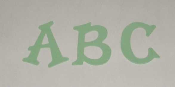 Scrapbooking Sizzix Fun Serif Alphabet - Pastel Green