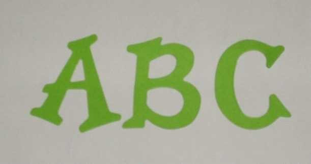 Scrapbooking Sizzix Fun Serif Alphabet - Bright Green