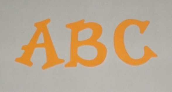 Scrapbooking Sizzix Fun Serif Alphabet - Bright Orange