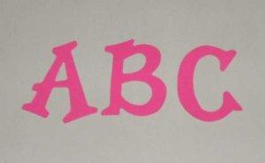 Scrapbooking Sizzix Fun Serif Alphabet - Bright Pink