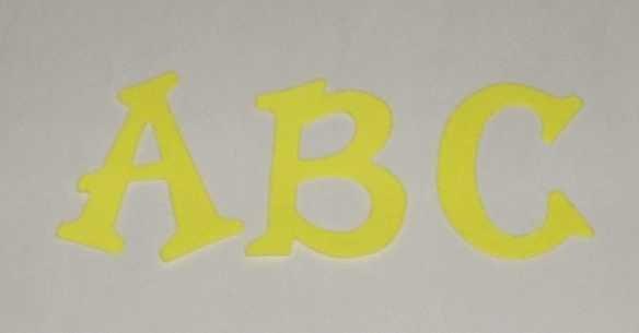 Scrapbooking Sizzix Fun Serif Alphabet - Bright Yellow