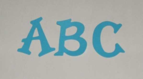 Scrapbooking Sizzix Fun Serif Alphabet - Bright Blue