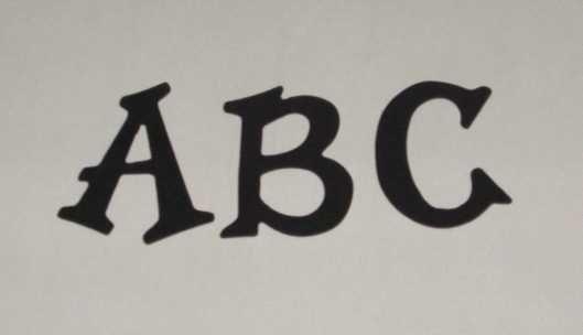 Scrapbooking Sizzix Fun Serif Alphabet - Navy Blue