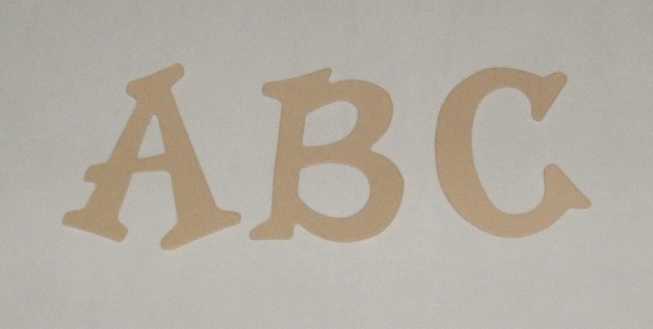 Scrapbooking Sizzix Fun Serif Alphabet - Tan