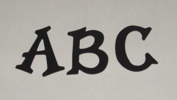 Scrapbooking Sizzix Fun Serif Alphabet - Black
