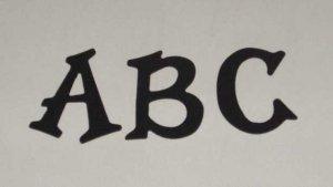 Scrapbooking Sizzix Fun Serif Alphabet - Black