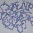 Scrapbooking Chipboard Fun Serif Alphabet - Blue/Pink