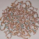 Scrapbooking Chipboard Fun Serif Alphabet - Brown/Pink Retro