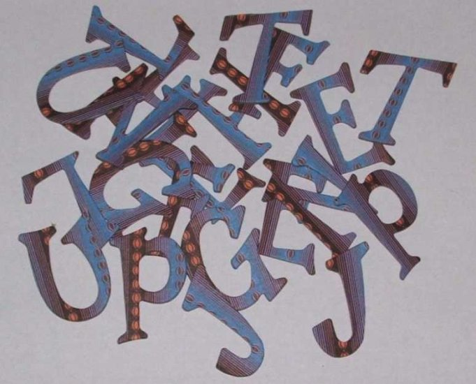 Scrapbooking Chipboard Fun Serif Alphabet