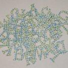 Scrapbooking Chipboard Fun Serif Alphabet - Blue/Green Plaid