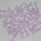 Scrapbooking Chipboard Fun Serif Alphabet - Purple Polka Dots