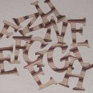 Scrapbooking Chipboard Fun Serif Alphabet - Textured Brown Stripes