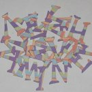Scrapbooking Chipboard Fun Serif Alphabet - Fun Stripes