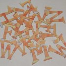 Scrapbooking Chipboard Fun Serif Alphabet - Peach Stripes
