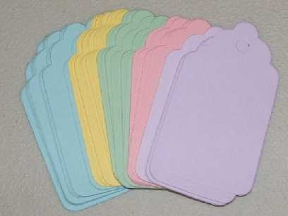 Scrapbooking Sizzix Scalloped Tags - Pastel Colors
