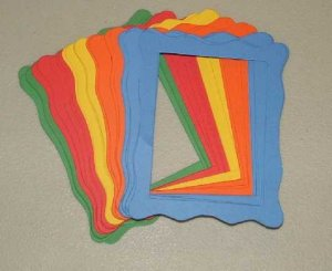 Scrapbooking Sizzix Jelly Frames - Primary Colors