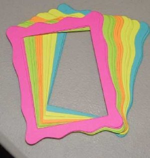 Scrapbooking Sizzix Jelly Frames - Brights