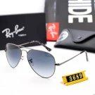 RB3689 Aviator Violet Gradient sunglasses Matte Silver Tone Frame