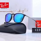 Ray-Ban RB 4187 Sunglasses Cool Blue With Violet Lenses Silver Eyeglass Legs