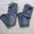 2 Pair Toddler Girls Jeans Size 4