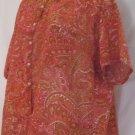 Vintage Details Sports Wear Orange Paisley Women's Blouse