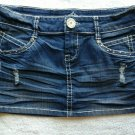 Almost Famous Destroyed Mini Jean Skirt Size 7