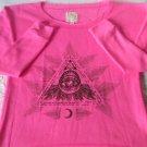 Billabong Hot Pink Aztec Crew Neck Sweatshirt Size S