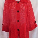 Alli Y Red Women's Swimsuit Cover Up New With Tags Size L