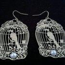 Bird Cage Statement Pierced Earrings