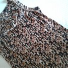 Ann Taylor Animal Print Cowl Neck Sleeveless Women's Top Size 12