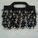 Black Beaded Evening Hand Bag