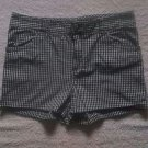 By & By Girl Black White Plaid Shorts Size 16