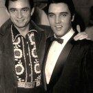 Johhny Cash and Elvis Rare Photo 8x10