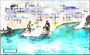 Digital old man surf