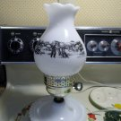 Currier and Ives Bedside Lamp