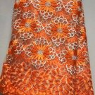 african lace fabric/French lace fabric/Orange Africa lace fabric/swiss lace/5yds