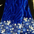 african fabric lace, Royal blue Swiss Lace, French tulle lacefabric  5 yards