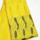 African lace fabric Swiss Lace Guipure Lace fabric Yellow African Fabric 5yds