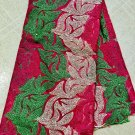 african Fabric Guipure French Lace Fushia pink gold Green African Lace Fabric