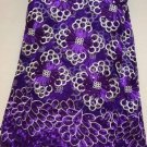 African Lace Fabric/French Lace Fabric/Purple African Lace Fabric/5 yards